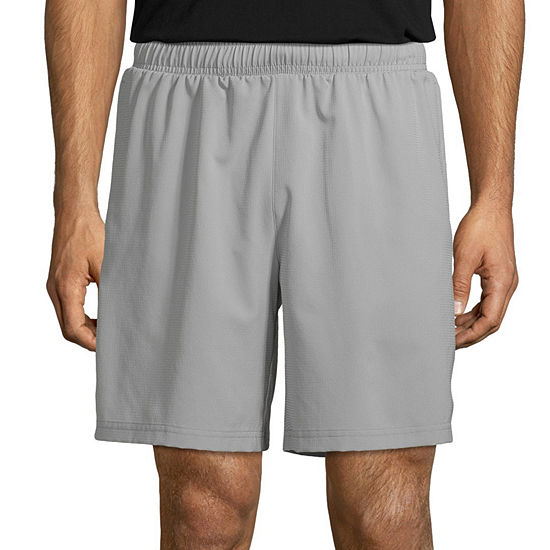 """Xersion Mens Moisture Wicking 8"""" Running Short with Liner"""