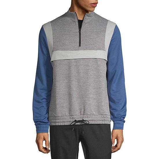 Msx By Michael Strahan Mens Mock Neck Long Sleeve Quarter-Zip Pullover
