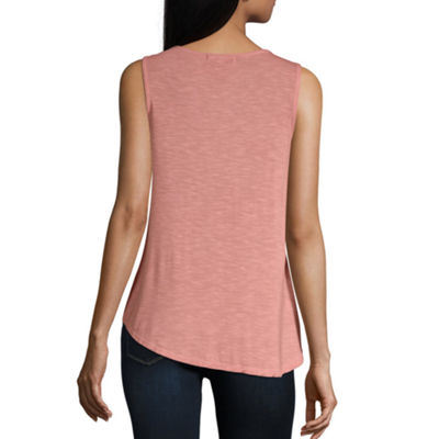 Artesia Womens V Neck Sleeveless Tank Top