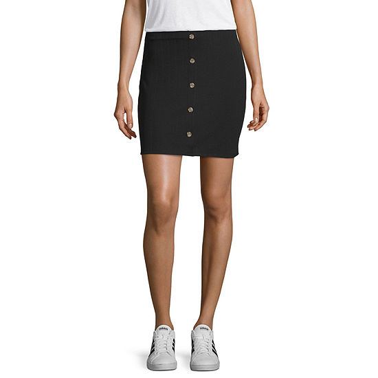 Society And Stitch Womens Short Pleated Skirt Juniors