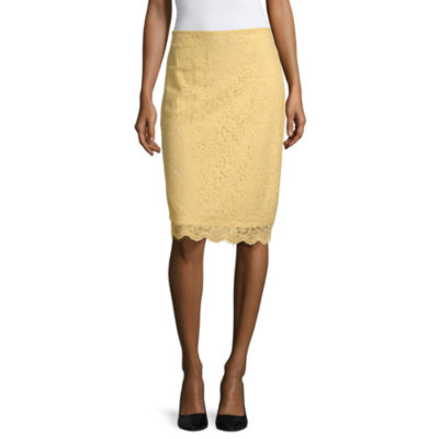 Liz Claiborne Spring Bouquet Womens Midi Pencil Skirt