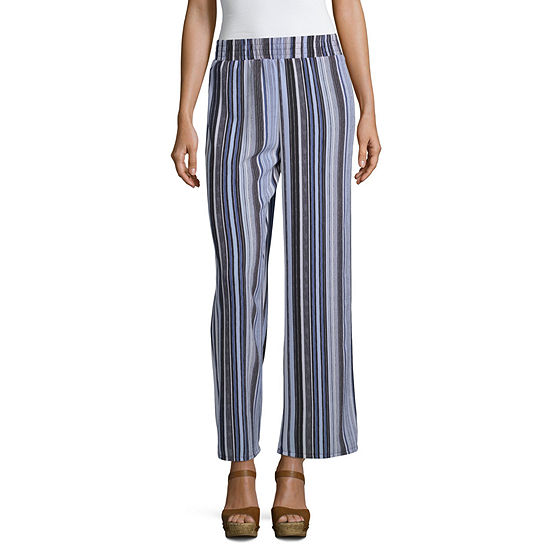 Alyx Womens Mid Rise Wide Leg Pull-On Pants