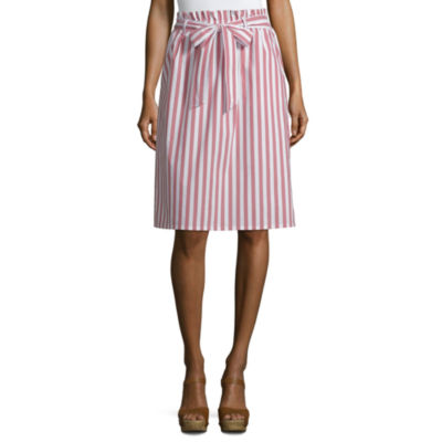 Liz Claiborne Womens High Waisted A-Line Skirt