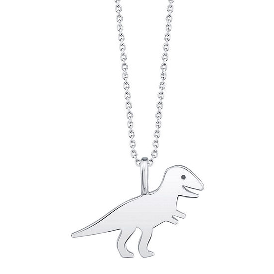 Footnotes T-Rex Sterling Silver 18 Inch Cable Pendant Necklace