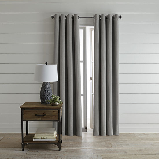 JCPenney Home Wallace Blackout Grommet-Top Single Curtain Panel