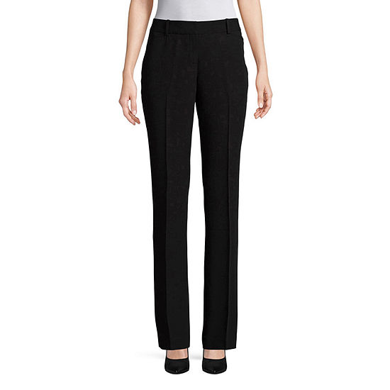 Worthington Womens Perfect Straight Leg Trouser - Tall