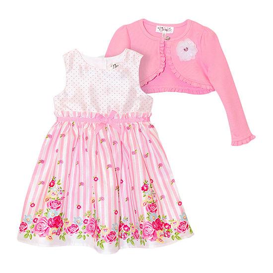 Nannette Baby - Toddler Girls Sleeveless Dress Set