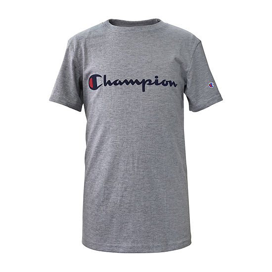 Champion - Big Kid Boys Crew Neck Short Sleeve Graphic T-Shirt