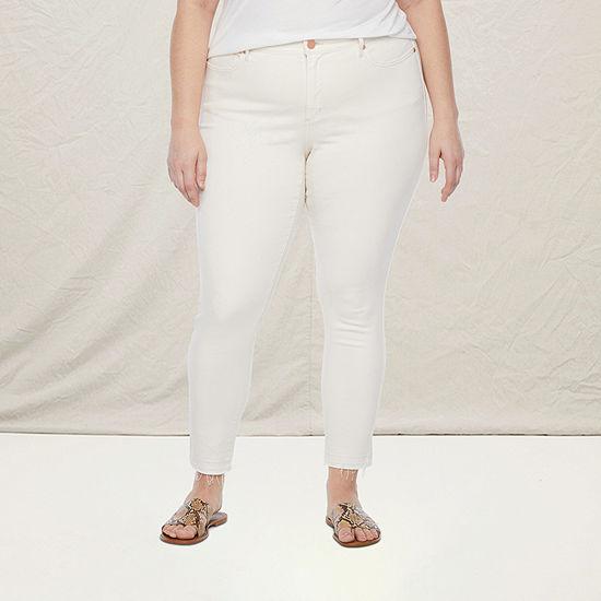 a.n.a - Plus Womens Mid Rise Skinny Fit Jean