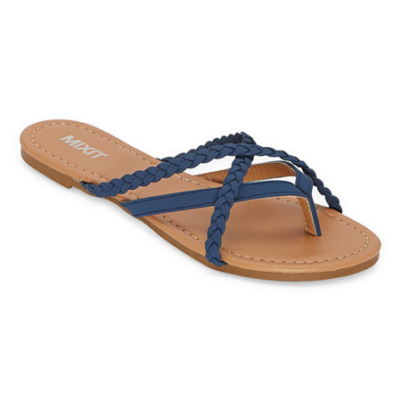 Mixit Womens Flat Sandals, 9 , Blue