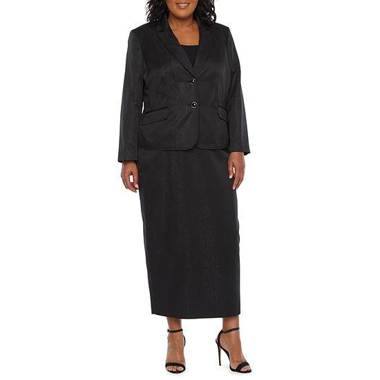 Le Suit Skirt Suit-Plus