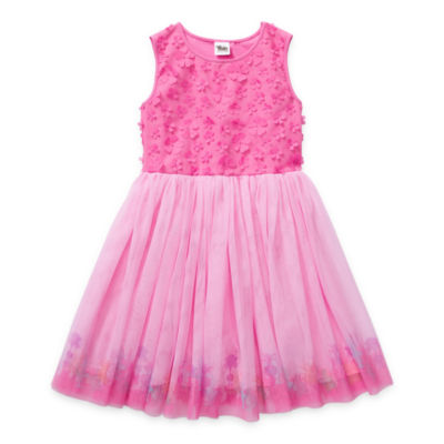 Trolls Little & Big Girls Embellished Sleeveless Trolls Tutu Dress