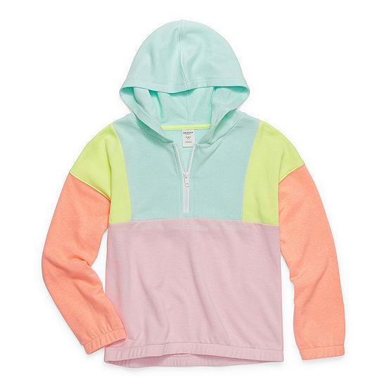 Arizona Little & Big Girls Hooded Neck Long Sleeve Sweatshirt