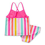 Okie Dokie - Toddler Girls Striped Tankini Set