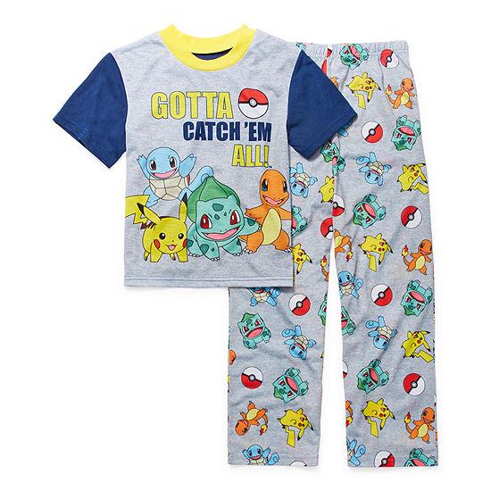 Little Kid / Big Kid Boys 2-pc. Pokemon Pant Pajama Set