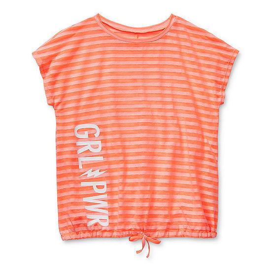 Xersion Little & Big Girls Round Neck Short Sleeve T-Shirt