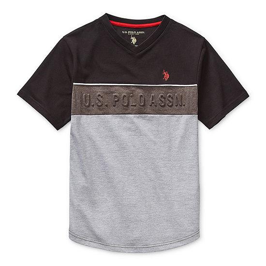 U.S. Polo Assn. Big Boys Crew Neck Short Sleeve Graphic T-Shirt