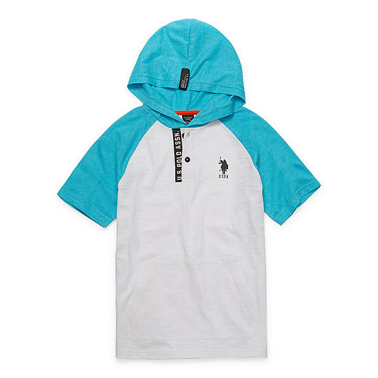 Us Polo Assn.-Big Kid Boys Short Sleeve Embroidered T-Shirt