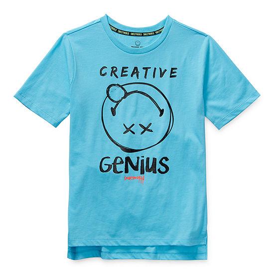 Smiley World Little & Big Boys Crew Neck Short Sleeve T-Shirt