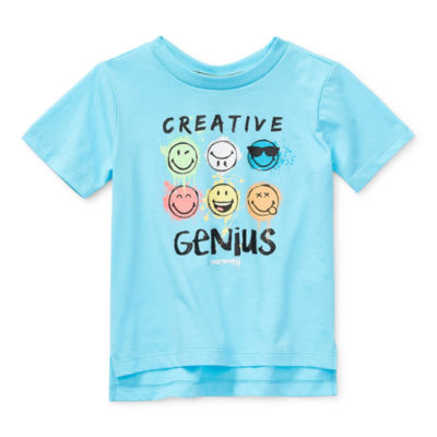 Smiley World Toddler Boys Crew Neck Short Sleeve Graphic T-Shirt