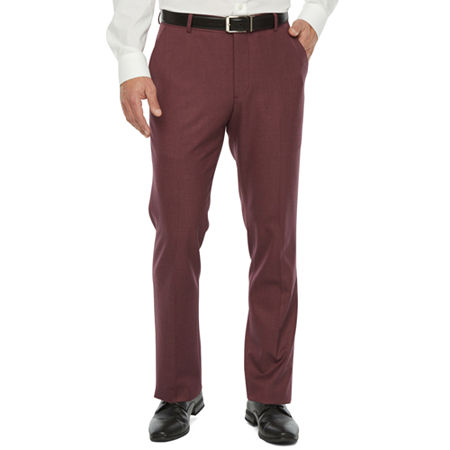 60s – 70s Mens Bell Bottom Jeans, Flares, Disco Pants JF J.Ferrar 360 Stretch Mens Stretch Super Slim Fit Suit Pants 36 34 Red $49.99 AT vintagedancer.com