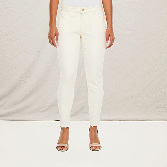 a.n.a Womens Mid Rise Skinny Jegging - Petite