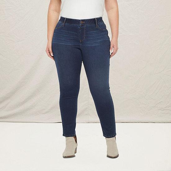 a.n.a - Plus Womens Skinny Stretch Jegging