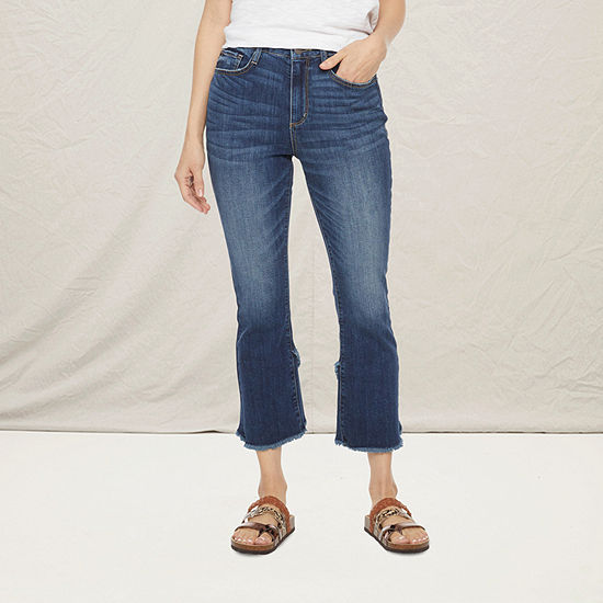 a.n.a Womens High Rise Tulip Hem Kick Crop Jean