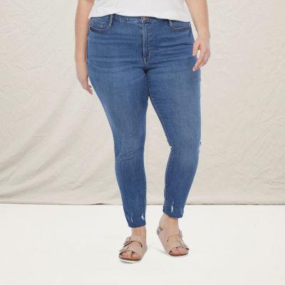 a.n.a-Plus Womens High Rise Skinny Jean