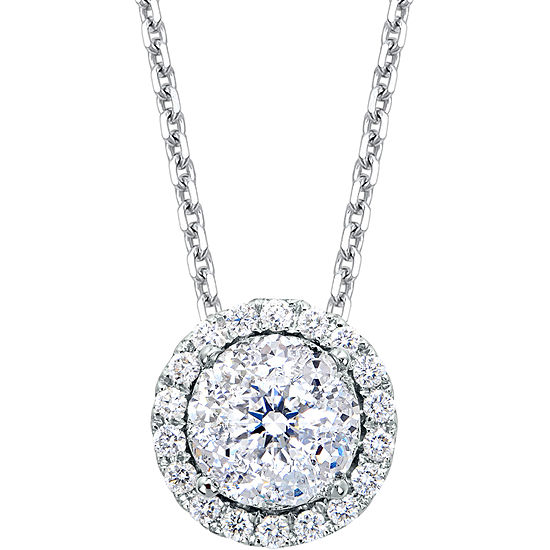 12 ct tw round diamond pendant brilliant dream 12 ct tw round diamond pendant necklace mozeypictures Image collections