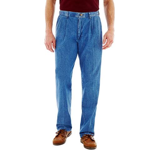 Lee® Stain Resist Pleated Denim Pants