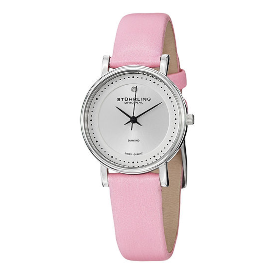 Stuhrling Womens Pink Strap Watch Sp13076