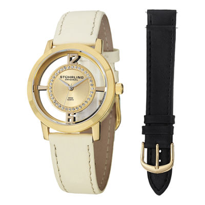 Stuhrling Womens White Strap Watch-Sp14653
