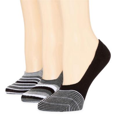 Mixit 3-pc. Knit Liner Socks - Womens