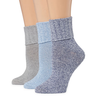 Mixit 3 Pair Turncuff Socks - Womens