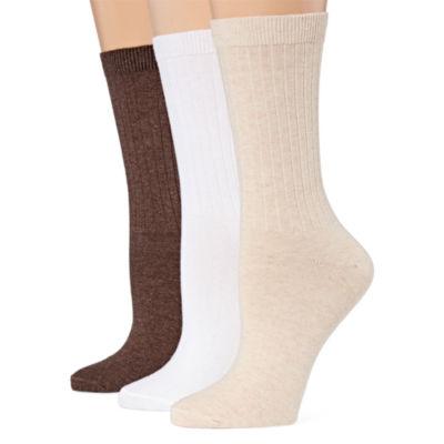 Mixit 3pk Crew Socks