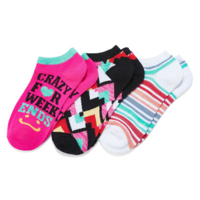 Mixit 3-pc. No Show Socks - Womens