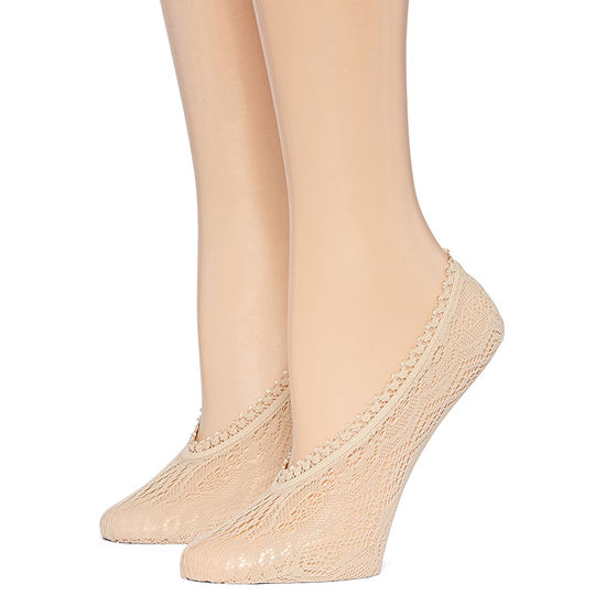 Mixit 2pk Lace Liner Socks