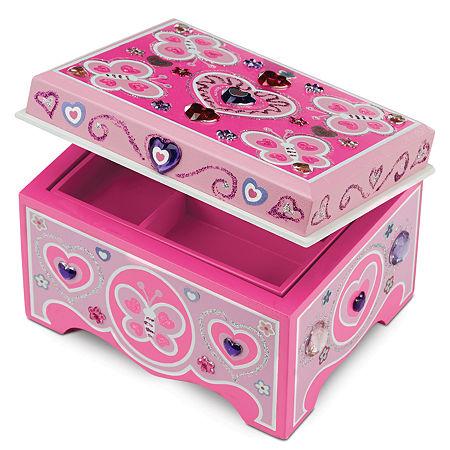 Melissa & Doug Decorate Your Own Jewelry Box, One Size , Jewelry Box