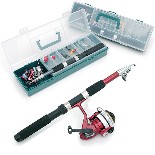 Natico Complete Fishing Kit with Tackle Box