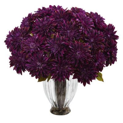 Silk Dahlia Floral Arrangement