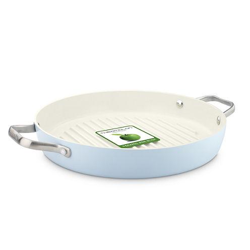 "GreenPan™ Padova 11"" Ceramic Nonstick Round Grill Pan with 2 Side Handles"