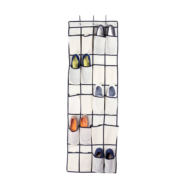 Sunbeam Over the Door 20-Pocket Shoe Organizer