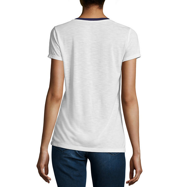 Us polo assn short sleeve crew neck t shirt womens jcpenney for Jcpenney ladies polo shirts