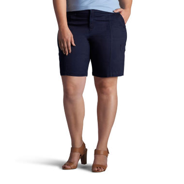 "Lee 10"" Relaxed Fit Twill Bermuda Shorts-Plus"