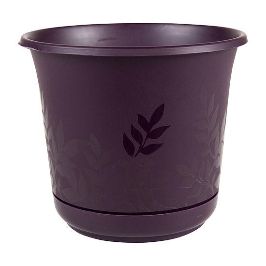 "Bloem Freesia 12"" Planter with Saucer"""