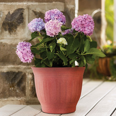 "Bloem Colonnade Wood Resin 16"" Planter"