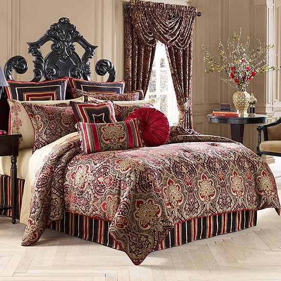 Five Queens Court Remington 4 Pc Jacquard Comforter Set