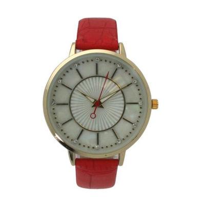 Olivia Pratt Unisex Pink Bracelet Watch-D60021coral