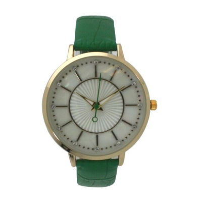 Olivia Pratt Unisex Green Bracelet Watch-D60021green
